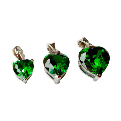 Eemerald Heart Pendants